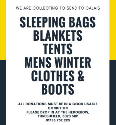 There is another collection for refugees in Upper Wharfedale this autumn -  desperately needed in readiness for winter in the camps. 05c8adc137